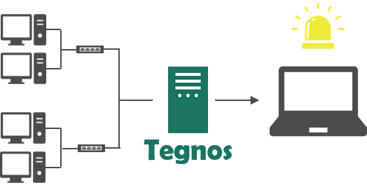 ネットワーク監視画像_Tegnos監視システム構成例